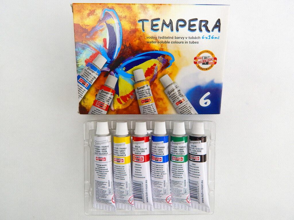Barvy 162547/6  MOTÝL temperové