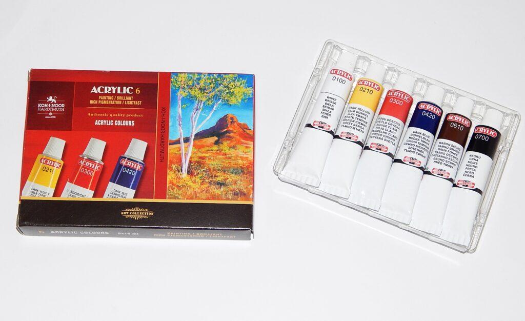 Souprava barvy 162701/6  akrylové 16 ml