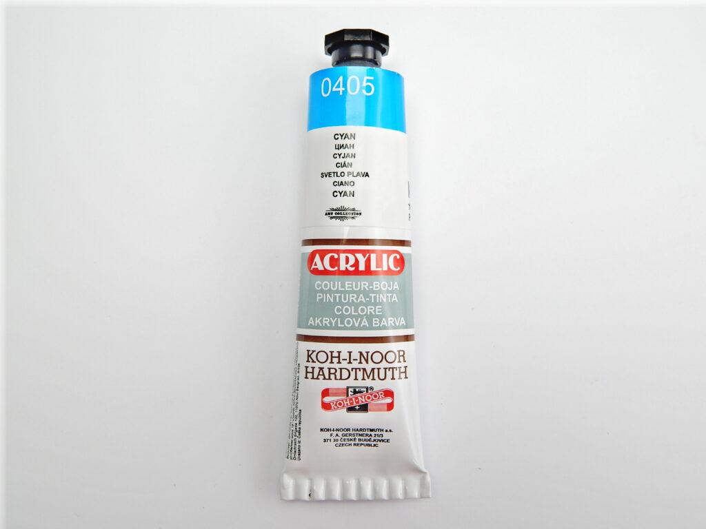 Barva 162710 / 0405 cyan akrylová 40ml