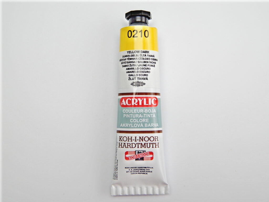 Barva 162713 / 0210 tm.žlutá akrylové 40ml