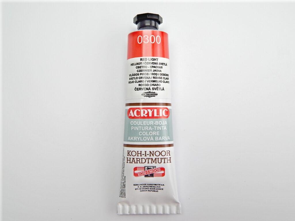 Barva 162714 / 0300 sv.červená akrylová 40