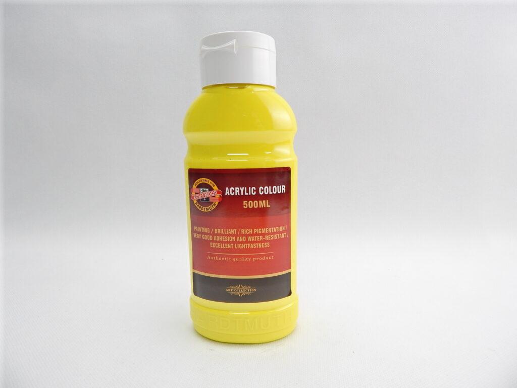 Barva akrylová 500ml žluť citronová 1627/0200