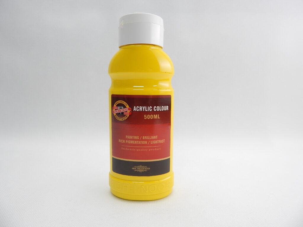 Barva akrylová 500ml žluť tmavá 1627/0210