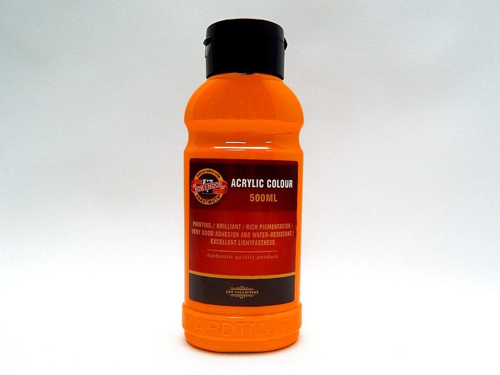 Barva akrylová 500ml oranžová světlá 1627/0220