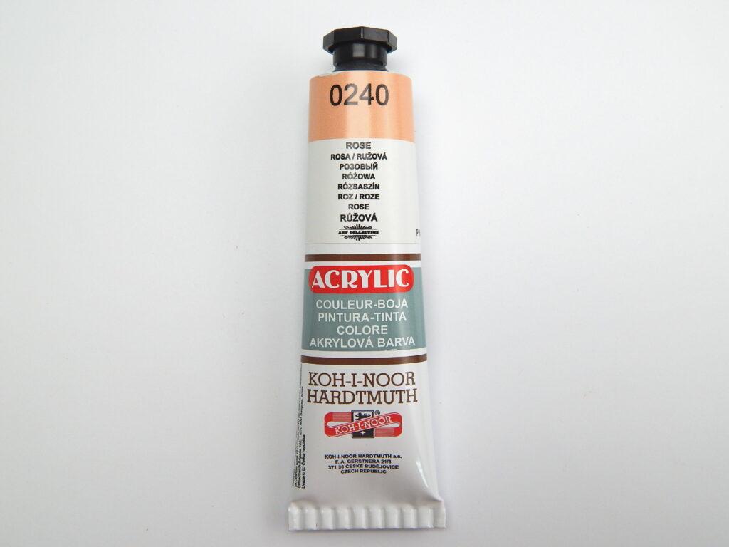Barva 162729 / 0240 růžová akrylová 40ml