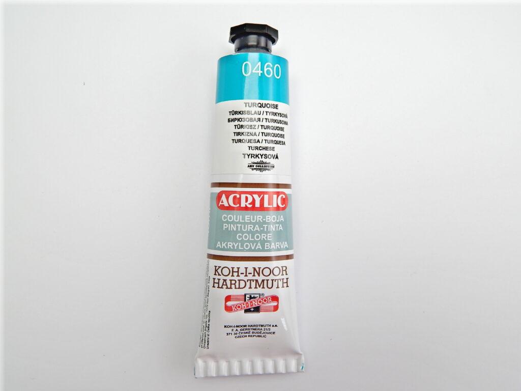 Barva 162735 / 0460 tyrkysová akrylová 40m