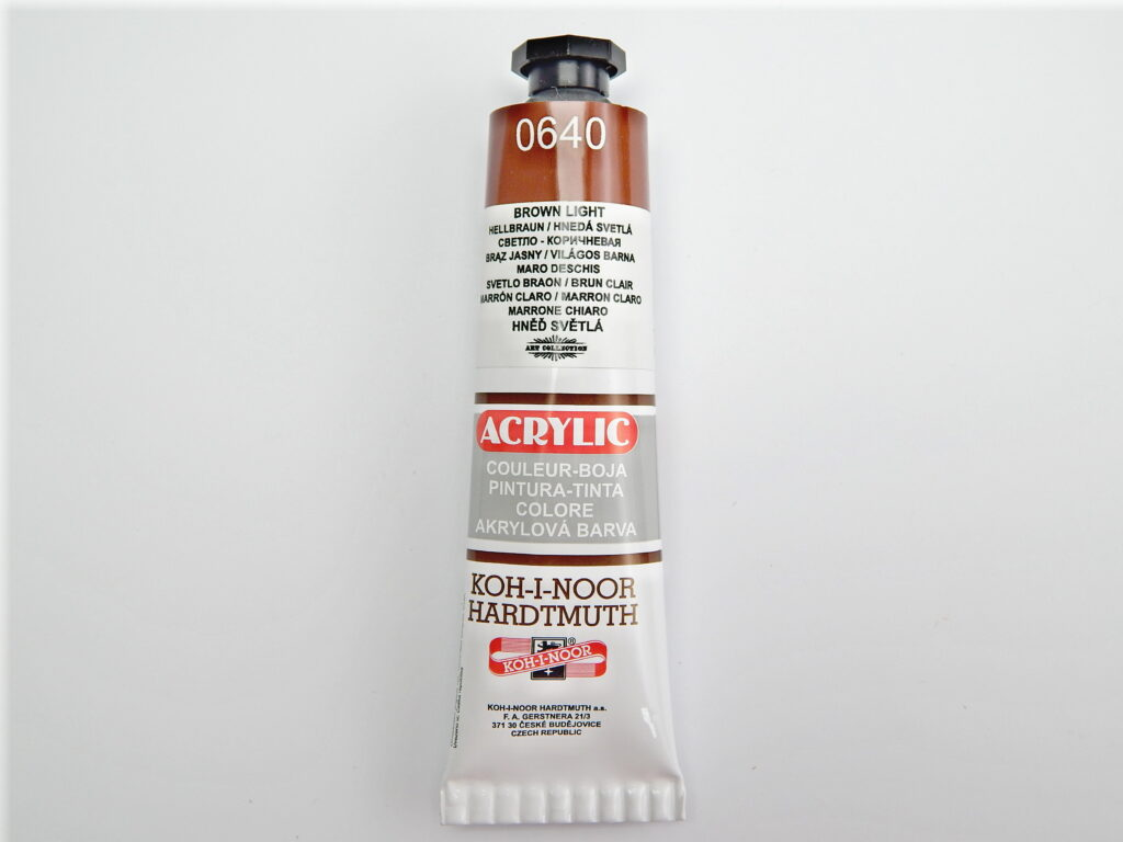 Barva 162738 / 0640 sv. hnědá akrylová 40ml