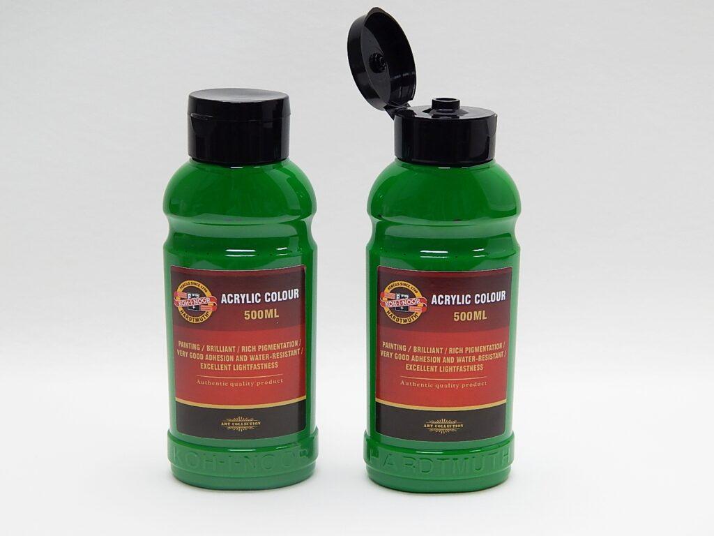 Barva akrylová 500ml  zeleň permanentní 1627/0520