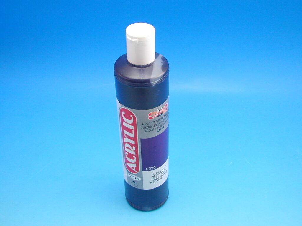 akrylová barva 500 ml modrofialová