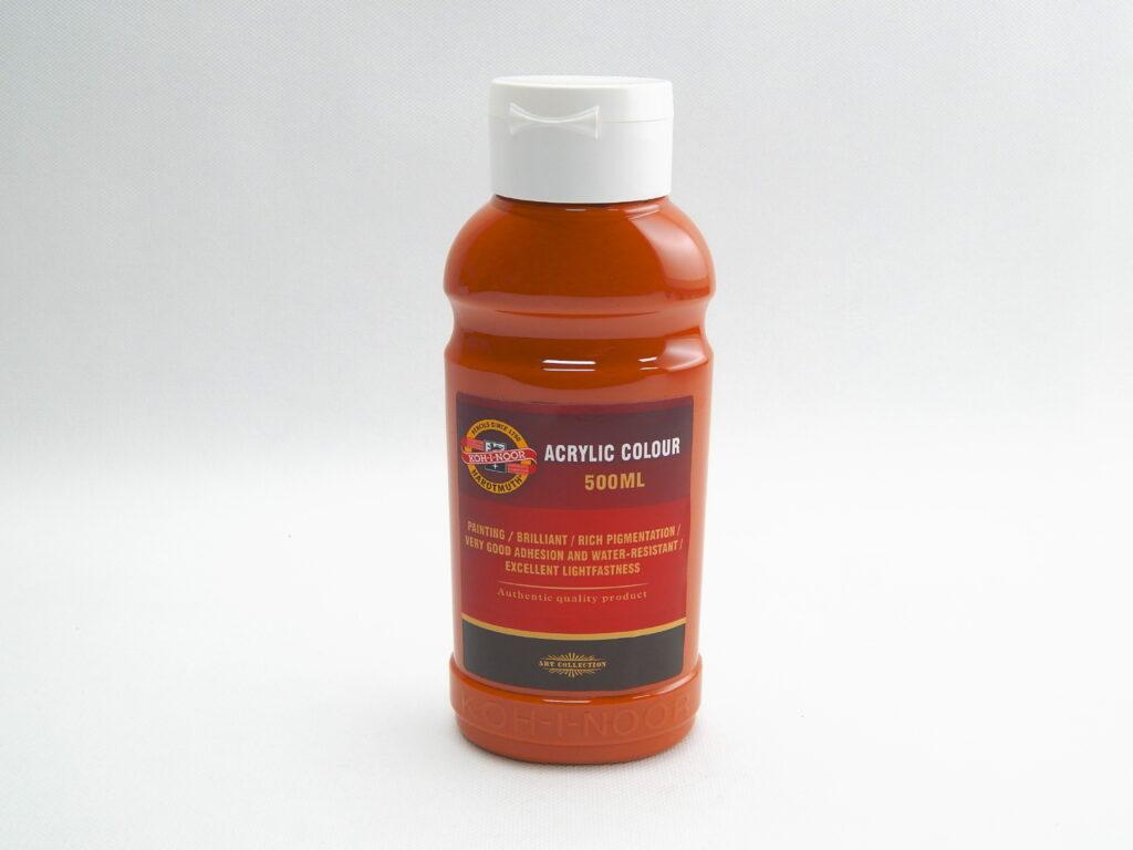 Barva akrylová 500ml hněď světlá 1627/0640