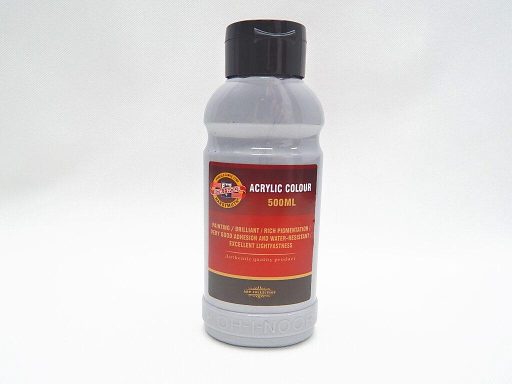 Barva akrylová 500ml  stříbrná 1627/0800
