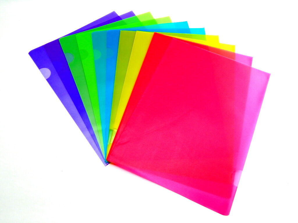 obal zakládací A4 barevný 10ks