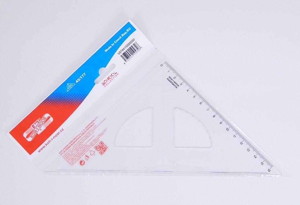 Trojúhelník 744150 45/177 čirý s kol.