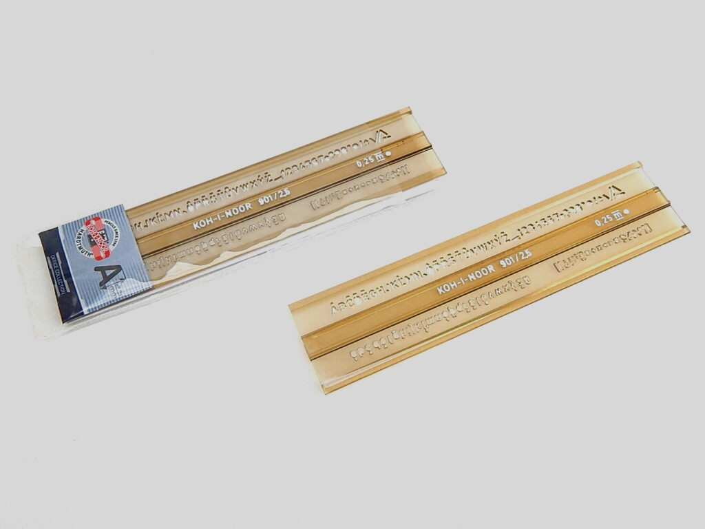Šablona 748002 písmenková 2,5mm