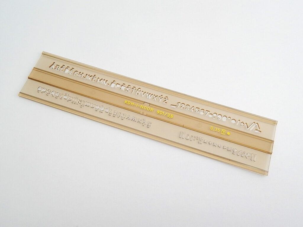 Šablona 748004 písmenková 3,5mm