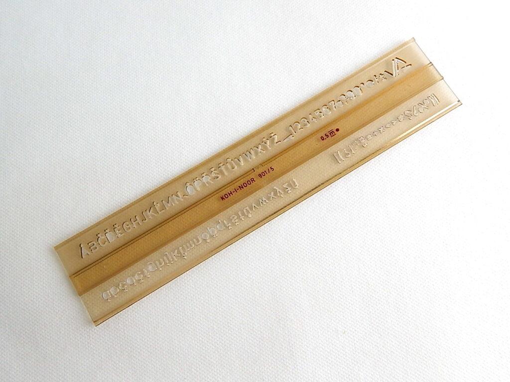 Šablona 748006 písmenková   5mm