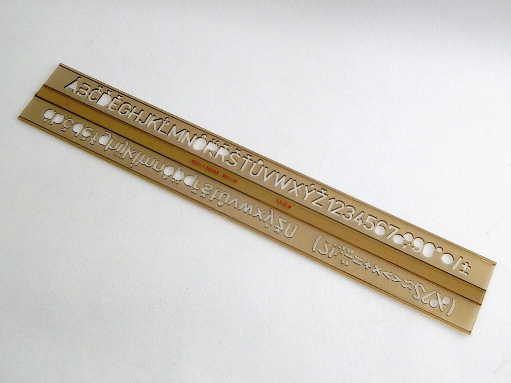 Šablona 748010 písmenková  10mm