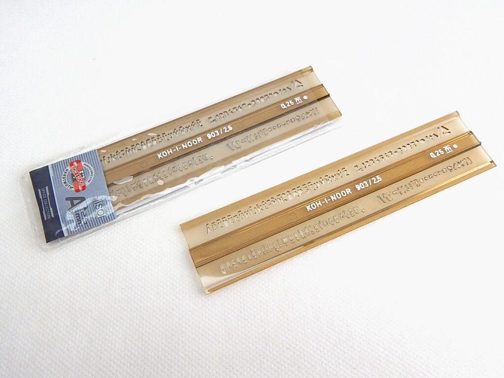 Šablona 748031 písmenková 2,5mm ISO