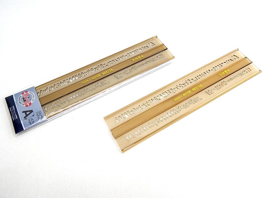 Šablona 748033 písmenková 3,5mm ISO