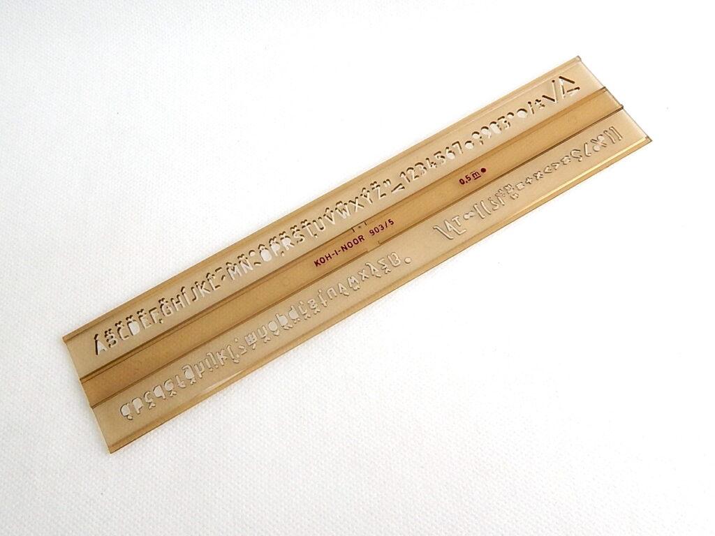 Šablona 748035 písmenková   5mm ISO