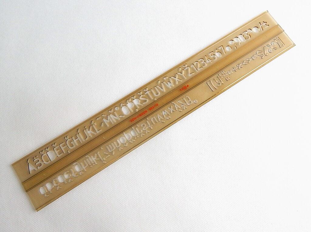 Šablona 748039 písmenková  10mm ISO
