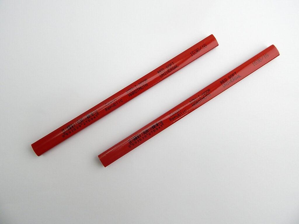 tužka tesařská krátká 1536 1G červená měkká univerzální