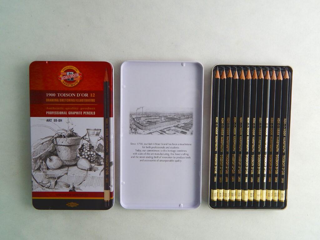 Tužky 1902 8B-8H souprava