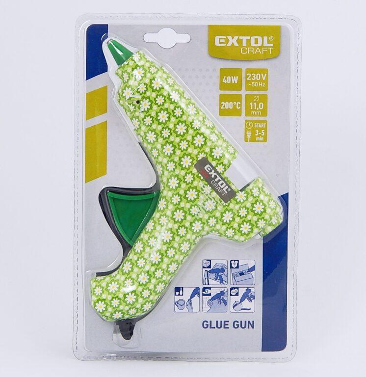 Pistole tavná EXTOL CRAFT 40W, květinová /422100/