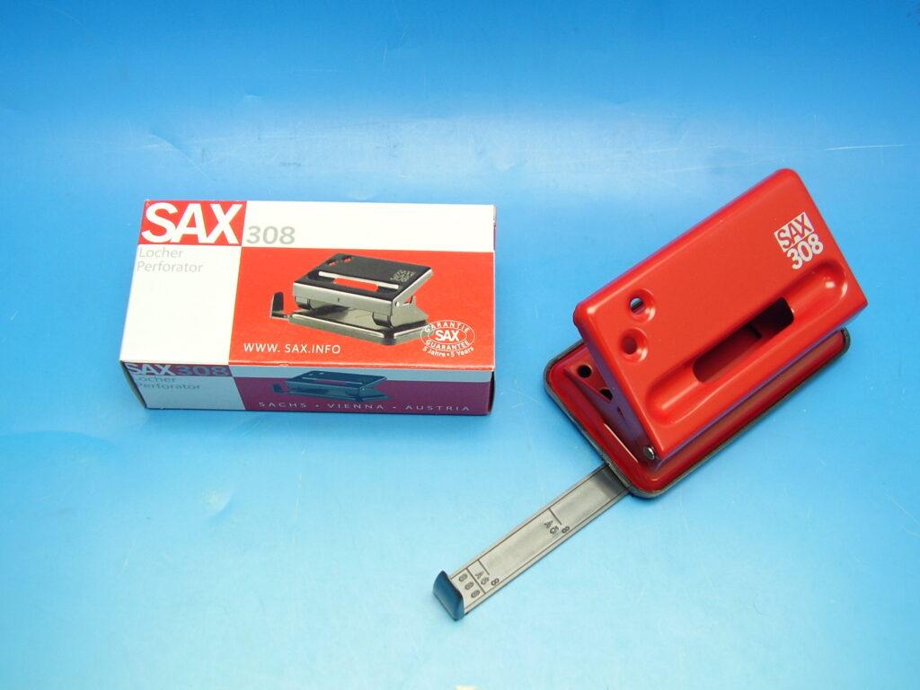 Děrovačka SAX 308 červená