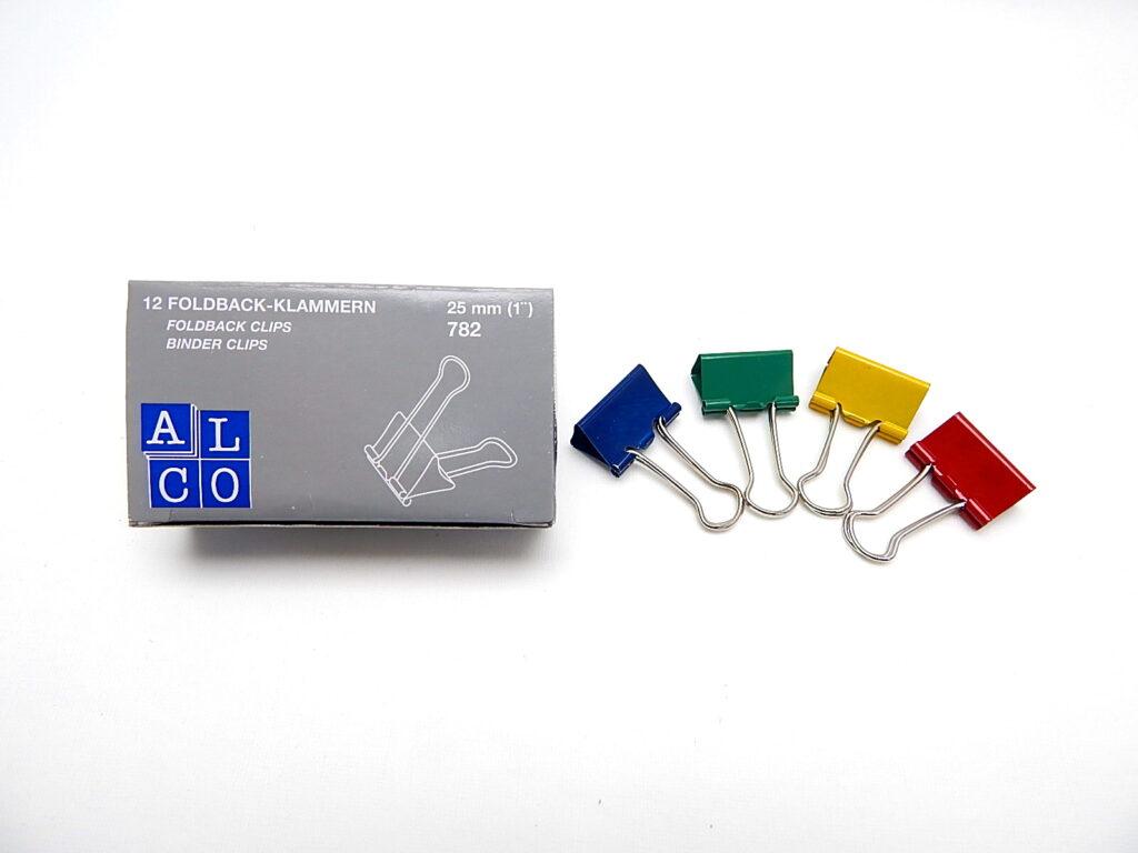 Klip BINDER barevný 421/25 mm