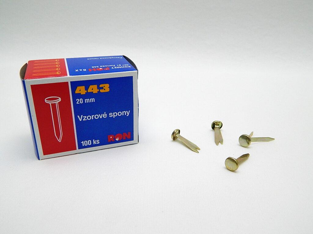 Spony vzorové 443 20mm RON