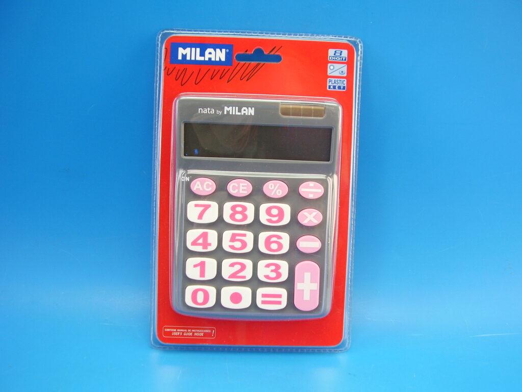 Kalkulačka MILAN 151708GBL šedá
