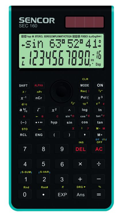 Kalkulačka SEC 160 černo-modré