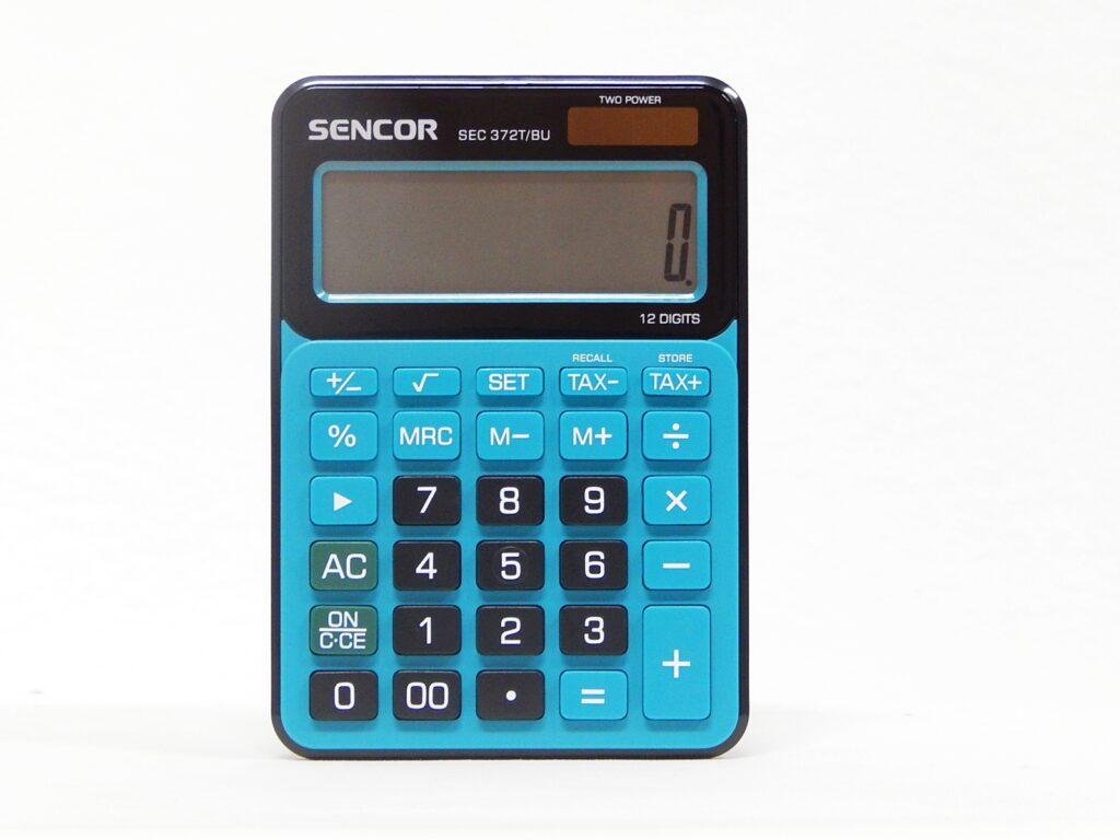 Kalkulačka SEC 372T/BU 12 míst. modro-černá /45009801/