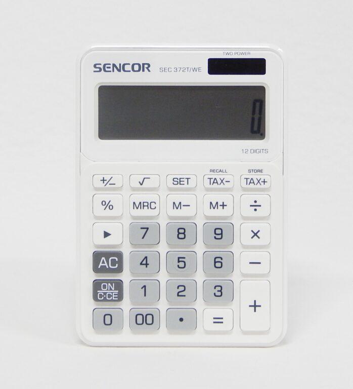 Kalkulačka SEC 372T/WE 12 míst. bílá /45009803/