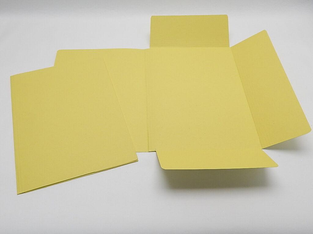 Mapa odkládací 3 klopy žlutá 253