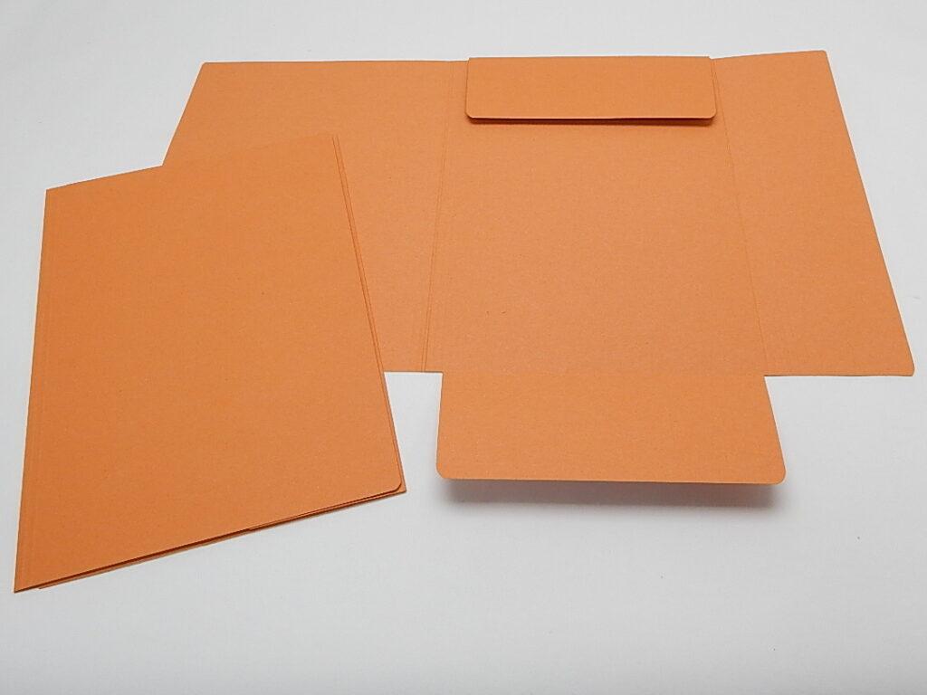 Mapa odkládací 3 klopy oranžová 253