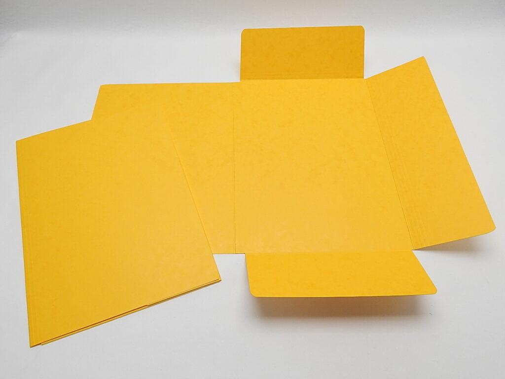 Mapa odkládací 3 klopy prešpán Žlutá