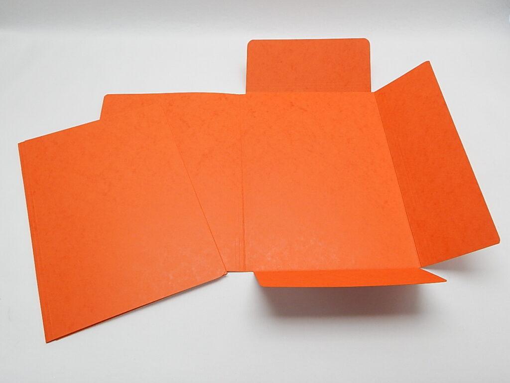 Mapa odkládací 3 klopy prešpán Oranžová