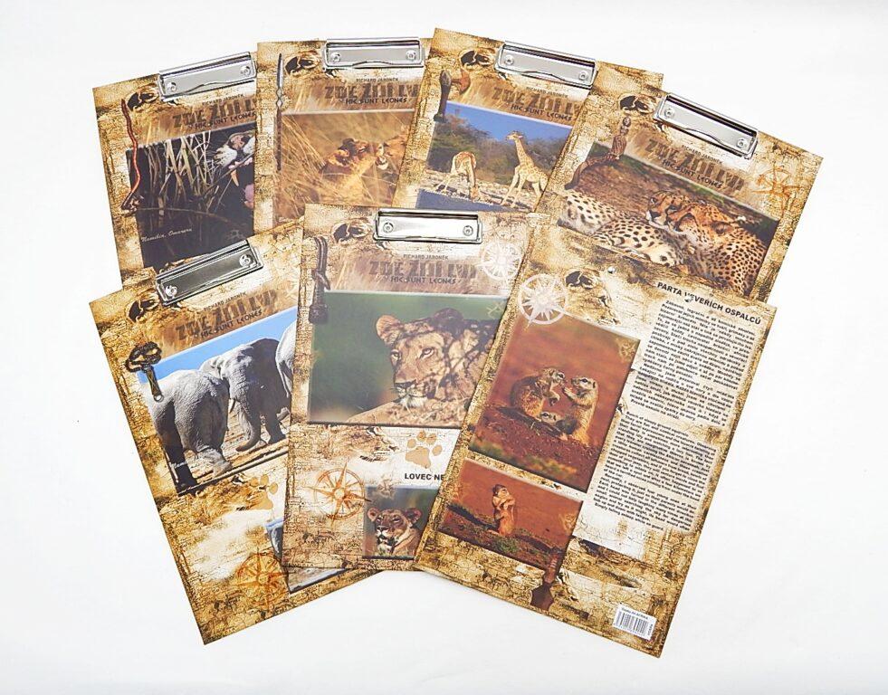 Deska A4 s klipem Afrika