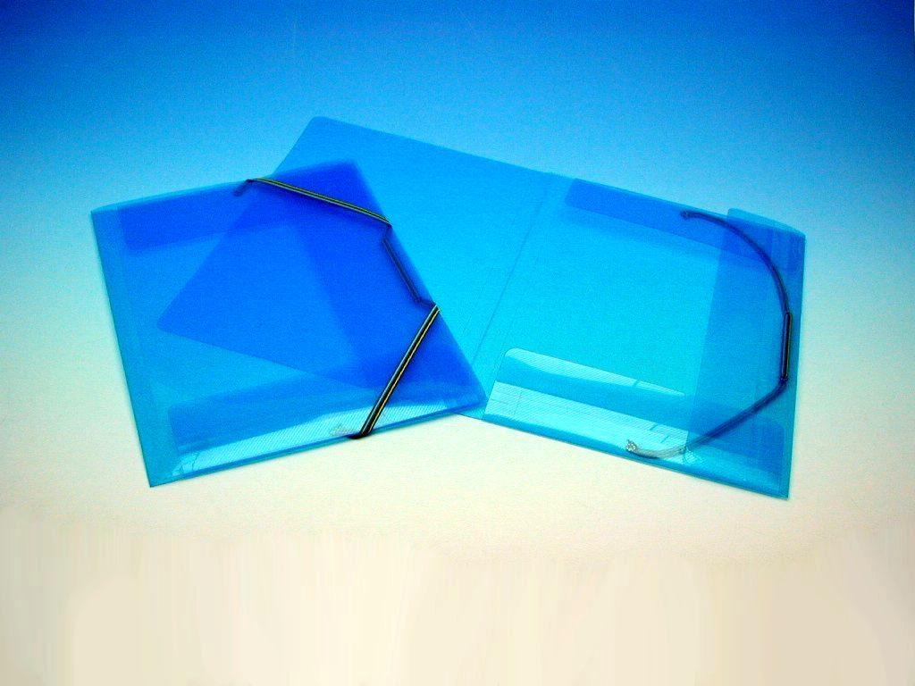 Složka A4 3 klopy s gumou modrá /2-507/