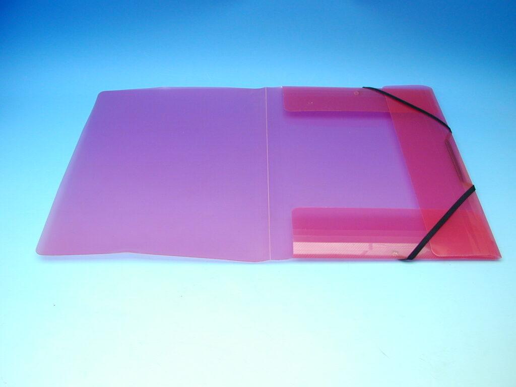 Složka A4 3 klopy s gumou červená /2-504/