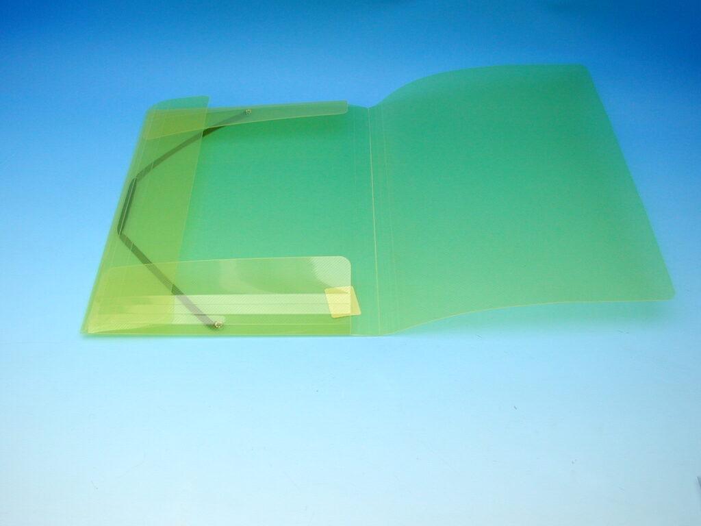 Složka A4 3 klopy s gumou žlutá /2-506/