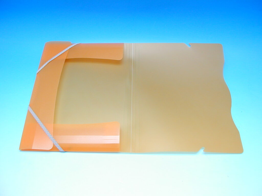 Složka A4 3 klopy s gumou oranžová /2-594/