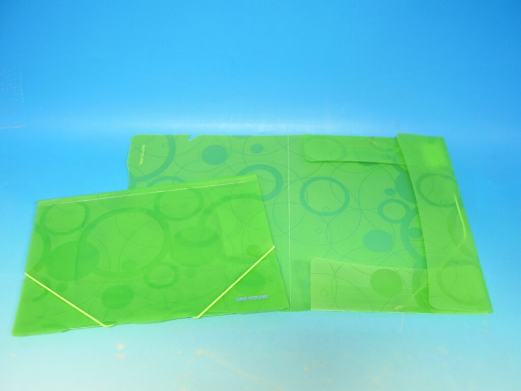 Složka A4 3 klopy s gumou zelená /2-940/
