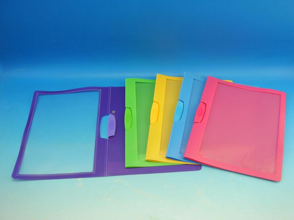 Rychlovazač s klipem plast. A4 mix barev