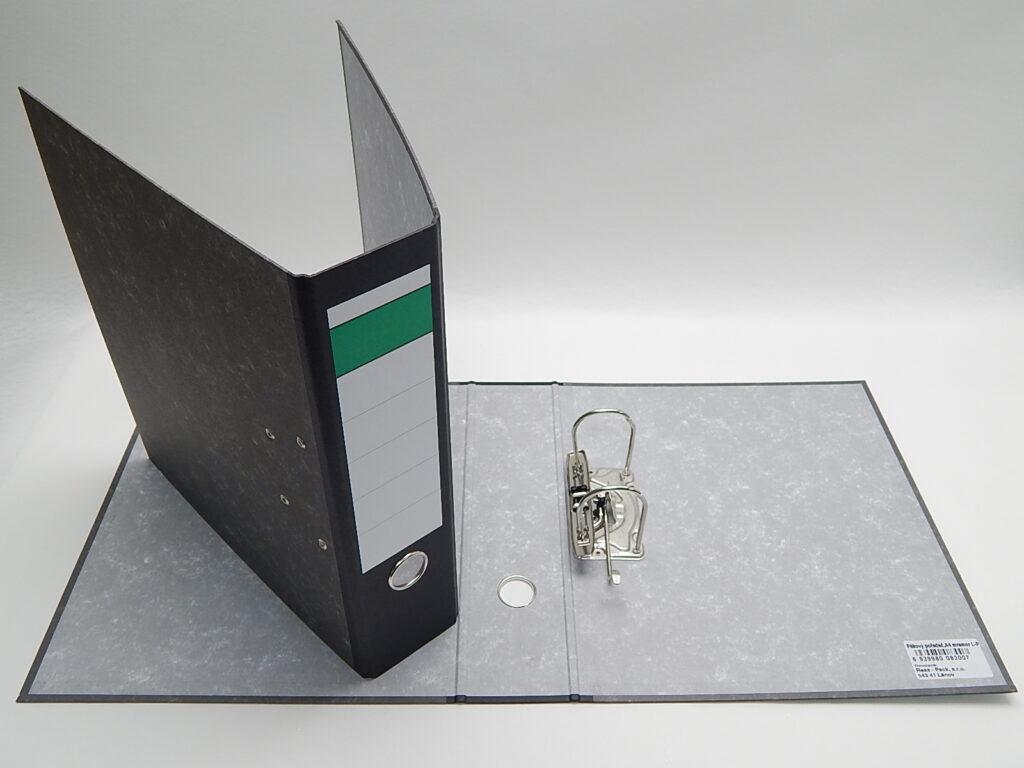 Pořadač A4 pákový 7,5cm M3230L-P mramor