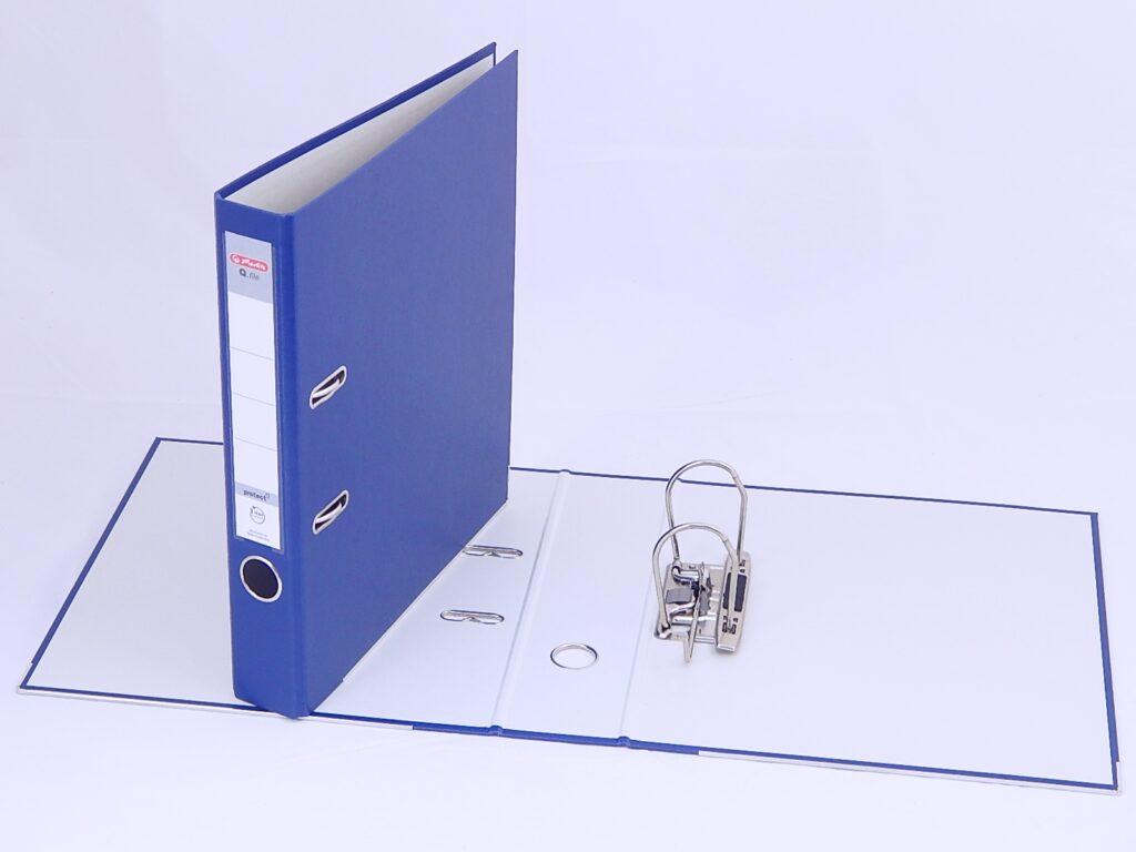 Pořadač A4/8cm Q.file PP pákový modrý / 11167418/