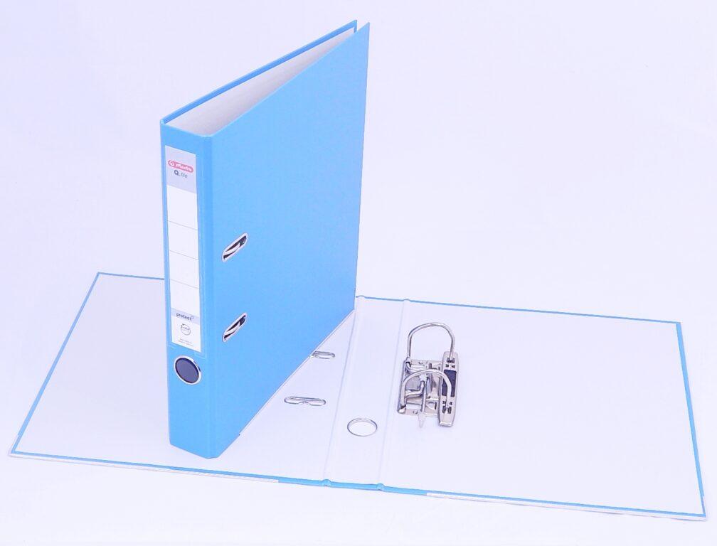 Pořadač A4 5cm PP agua, Q.file /11178969/