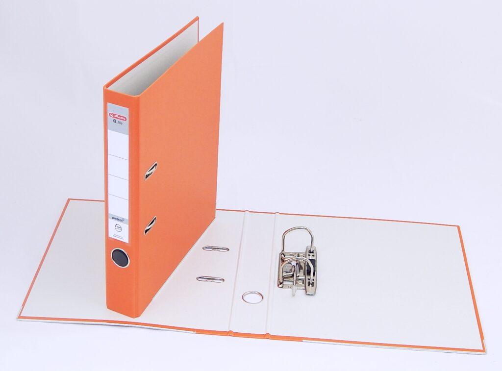 Pořadač A4 5cm PP oranž., Q.file /11178977/